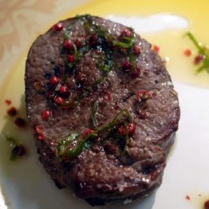 """Steak """"Fried"""" on Sea Salt"""