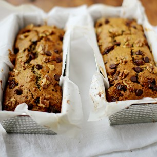 Date and Walnut Zucchini Loaf