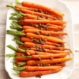 Glazed Carrots with Pistachios