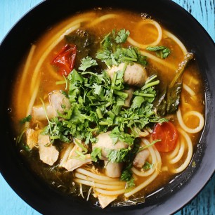 Hot and Sour Thai Chicken Noodle Soup