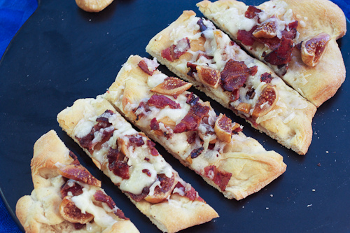Manchego, Fig and Bacon Flatbreads