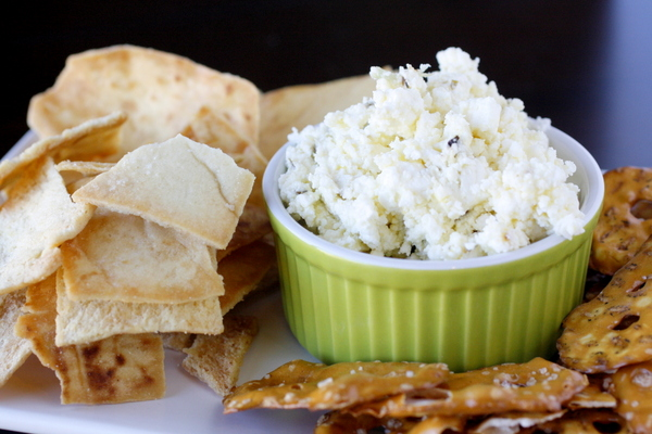 Roasted Garlic, Jalapeno and Feta Dip