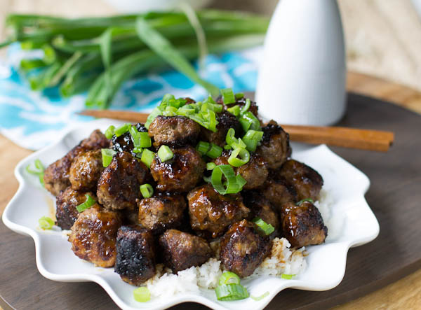 Spicy Apple-Glazed Meatballs