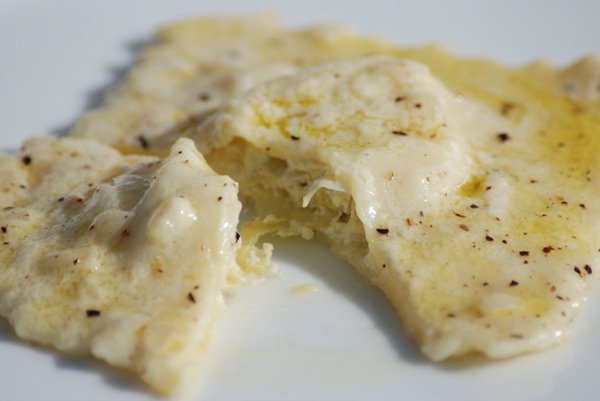 Artichoke Ravioli in a Lemon-Cream Sauce