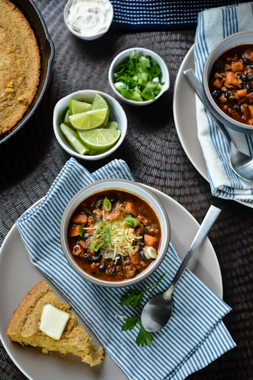 Chicken, Black Bean and Sweet Potato Chili
