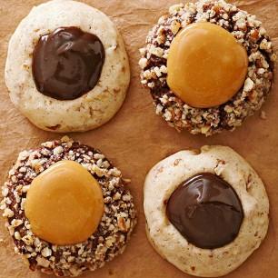 Chocolaty Caramel Thumbprints