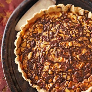 Chocolate-Mixed Nut Tart