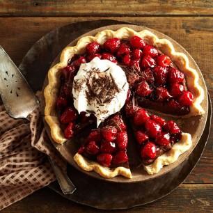 Double-Chocolate Mascarpone Raspberry Pie