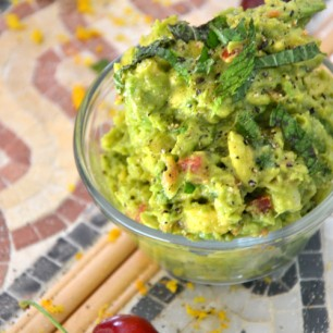 Grilled Cherry Guacamole