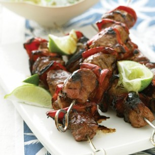 Pacific Pork Kebabs with Pineapple Rice