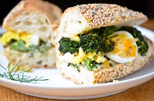 Roasted Broccolini Sandwich with Meyer Lemon Fennel Relish