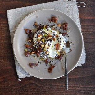 Yogurt with Toasted Quinoa, Dates and Nuts