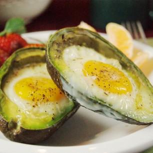 Baked Eggvocado