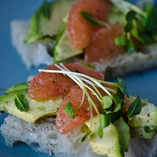 Avocado and Grapefruit Tea Sandwiches
