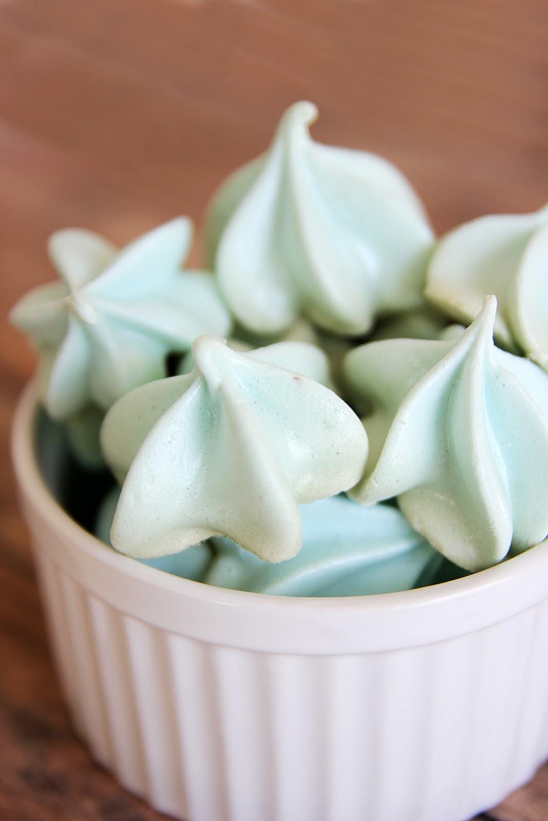 Blue Raspberry Meringue Kisses