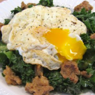 Kale, Veggie Sausage and Egg