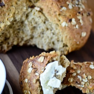 Hazelnut Honey Oat Bread