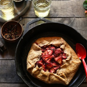 Honey Balsamic Strawberry Galette