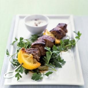 Lemon-Garlic Lamb Kebabs