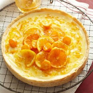 Orange-Ginger Ricotta Tart