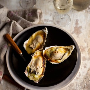 Oysters Gratin