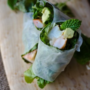 Shrimp Salad Rolls