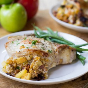 Apple-Bacon Stuffed Pork Chops